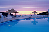 5 star luxury Hotel Hacienda Na Xamena at sunset, San Miguel, Ibiza, Balearic Islands, Spain