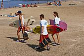 Surfer, Grand Plage, Biarritz, Baskenland Aquitanien, Frankreich