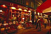 Bar Le Bouchon aus Vins, Rue Merciére Lyon, France