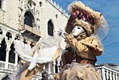 Carnival, person in disguise, Venice, Veneto, Italy, Europe