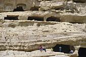 Sandsteinhoehlen, Matala, Kreta Griechenland