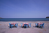 Beach bar with sea view, Kato Sakros, Crete, Greece