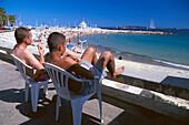 Beach, Plage du Midi, Cannes Cote d'Azur, France