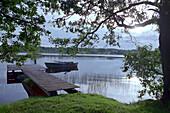 Footbridge, Lake, Smaland Sweden