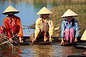 Gold seekers at a river, Nha Trang, Vietnam, Asia