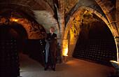 Champagnerhersteller Claude Taittinger, Weinkeller, Champagne Frankreich
