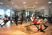 People training at PRINZ gym, Munich, Bavaria, Germany, Europe