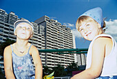 Two Girls, Children, Munich, Olympic Village People