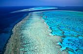 Aerial view of Heron Island, Great Barrier Reef, Queensland, Australia