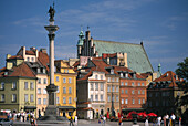 King Zygmunt's column in front of the Royal Castle, Warsaw Poland