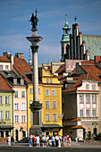 King Zygmunt's column in the Royal Square, Warsaw Poland
