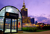 MetroStation in front of Palace of Culture & Science, Warsaw Poland