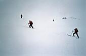 Skitour in deep snow, St. Antonien, Grisons, Switzerland