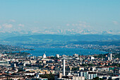 View over lake Zurich, Zürich, Schweiz, Europa