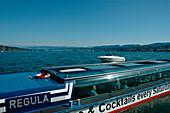 Excursion boat on Lake Zurich, Zurich, Canton of Zurich, Switzerland