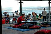 Cafe, Seebad Enge, Lake Zurich, Zuerich, Switzerland