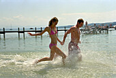 Bathing People, Starnberger See, Bavaria, Germany