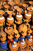 Earthenware at the pottery market, Marrakesh, Morocco, Africa
