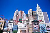 Exterior view of the New York New York Hotel, Las Vegas, Nevada, USA, America