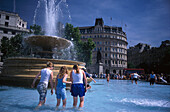 Teenager, Trafalgar Square, London, England Great Britain
