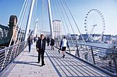 Charing Cross footbridge, London, England Great Britain