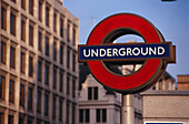 London Underground sign, London, England, Great Britain