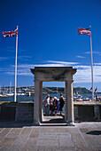 Mayflower Departure Point, Plymouth, Devon, England Great Britain