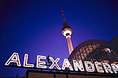 Television Tower and Alexanderplatz at night, Berlin, Germany