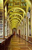 Interior view of the Hermitage, St. Petersburg, Russia, Europe