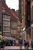 Timbered houses in the old town of Hannover, Lower Saxony, Germany