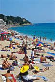 Beach, Lloret de Mar, Costa Brava, Catalonia Spain