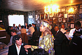Singer and guests at Sylvia' s Cafe, Harlem, New York, USA, America