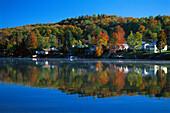 Lake Elmor near Stowe, Vermont USA