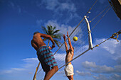 Beach-Volleyball, Miami Beach, Florida, USA Amerika