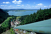 View at Walchensee power plant, Kochelsee, Bavaria, Germany, Europe