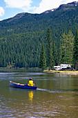 Kayaking on Dease River, Dease River, Stewart Cassier Highway, British Columbia, Canada