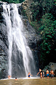 Wasserfall in Jarabacoa, Cordilliera Central, Dominikanische Republik, Karibik