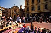 Antiques market, Nice, Cote d'Azur, France