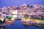 Hafen, Voulismeni-See, Agios, Nikolaos, Kreta Griechenland