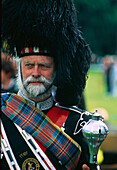 Old scotsman in traditional clothes, Highland Games, Birnam, Scotland, United Kingdom