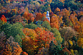 View from obelisk, Old Bennington, Vermont, USA