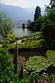 Botanical garden, Brissago islands, Isole di Brissago, Lake Maggiore, Ticino, Switzerland
