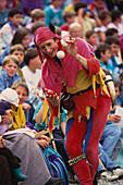 Juggler, Jongleur at the Kaltenberg Knights Tournament, Kaltenberger Ritterfestspiele, Kaltenberg, Upper Bavaria, Bavaria, Germany