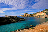 Barren coastline, Cala s'Amonia, Majorca, Spain