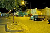 Street at night, Santa Maria, Sal, Cape Verde, Africa