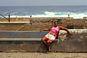 Native woman at Ponta do Sol, Santo Antao, Cape Verde Islands, Africa