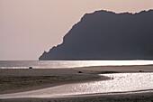 Beach at sunset, Sao Pedro, Sao Vicente, Cape Verde Islands, Africa