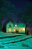 House at christmas time, Kinna, Vaestergoetland, Sweden