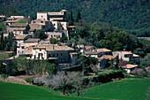 The village Orient in an idyllic landscape, Tramuntana, Majorca, Spain, Europe