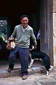 Landarbeiter Antonio, Finca, Son Brui, b. Pollenca Mallorca, Spanien